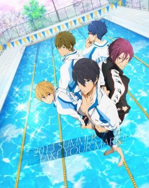 Summer 2013 promo poster of Free! - Iwatobi Swim Club