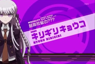 Kyoko Kirigiri seems suspicious