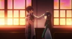 The Irregular at Magic High School Episode 2-Tatsuya comforting Miyuki