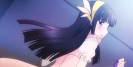 The Irregular at Magic High School Episode 8-Miyuki showing off her Mirage Bat