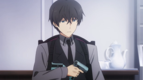 The Irregular at Magic High School Episode 8-Tatsuya testing out his holster for his two Silver Horn guns Part 1