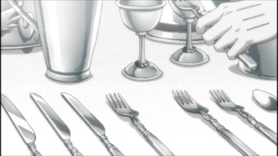 The spotless trademark silverware.