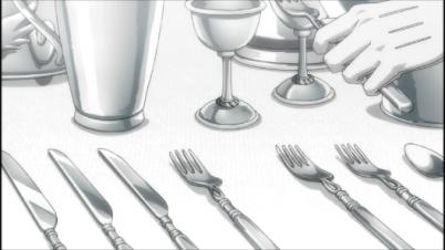 The spotless trademark silverware.