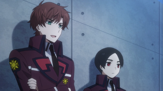 Masaki observing Tatsuya-The Irregular at Magic High School anime series