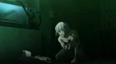 Art about to stab himself Part 2-Re Hamatora Episode 4