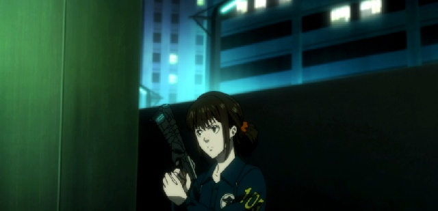 Annoyed Shimotsuki questions order-Psycho-Pass 2 Episode #1