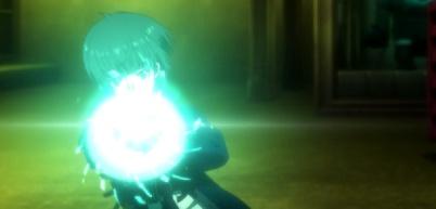 Psycho-Pass 2 Episode 1-Tsunemori engages the Dominator [Scene 3]