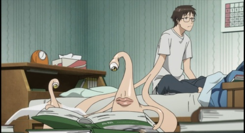 The parasite living with Shinichi-Parasyte anime Episode #1
