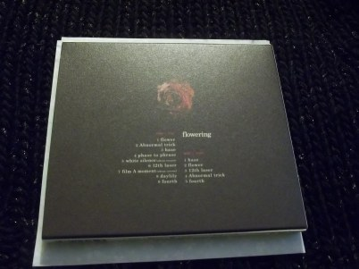 Flowering CD+DVD Limited Edition back of slip on case