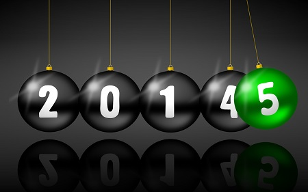 2015 new years illustration with christmas balls