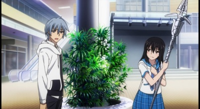 The more fanservice type of moments in Strike the Blood Part 4