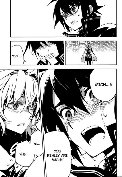 Seraph of the End-One of many actual close Yuu and Micha moments