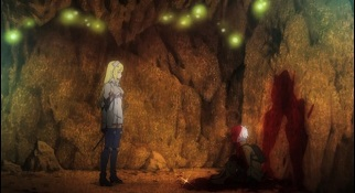 Is It Wrong to Try to Pick Up Girls in a Dungeon anime-Bell and Aiz their first meeting